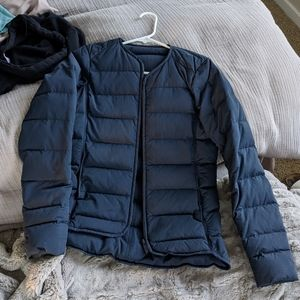 Lululemon just enough puff down cropped jacket